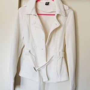 Women's white pea coat  size medium